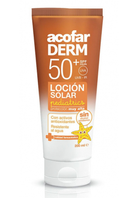 acofarDERM Leche Solar Pediatrics SPF50 250ml