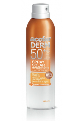 ACOFARDERM Spray Solar SPF50 Transparente 200ml