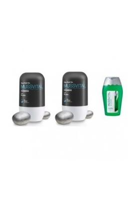 MUSSVITAL Pack Roll-On Hombre 2x75ml +REGALO Gel Aloe Vera 100ml