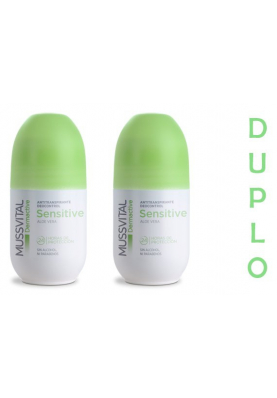 MUSSVITAL Pack Deo Roll On SENSITIVE AloeVera 2x75ml