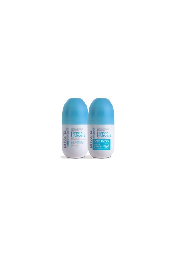 MUSSVITAL Pack Roll-On HIPERHIDROSIS 2x75ml