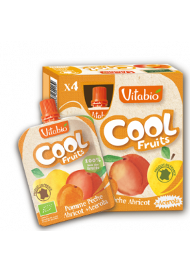 Vitabio Cool Fruits Manzana melocoton albaricoque 4+2 uds