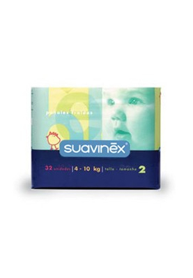 SUAVINEX Pañal Infantil Talla Media 4-10Kg 32 uds.