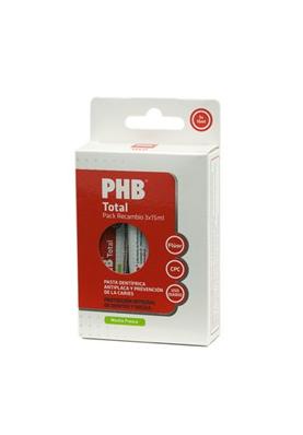 PHB Total Pack Viaje Recambios3 Pasta dental 3x15ml