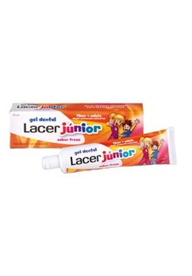 LACER Gel Dentífrico Junior Fresa 75ml