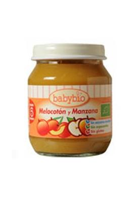 BABYBIO Potito de Melocotón y Manzana 130g