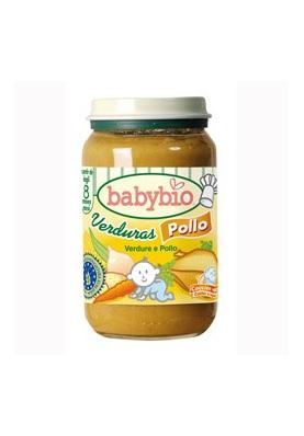 BABYBIO Tarrito Menu Verduras y Pollo 200g