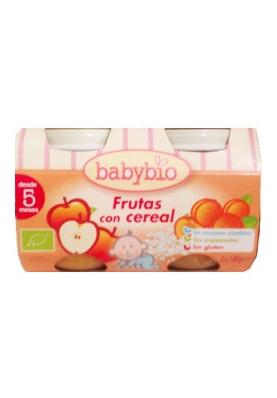 BABYBIO Tarrito Frutas con Cereales 2uds.x130g