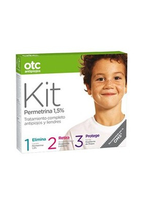 OTC Kit 123 Antipiojos 1,5% Loción+ acondicionador + spray repelente