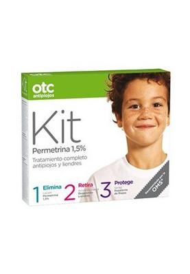 OTC Kit 123 Antipiojos 1,5% Loción+ acondicionador + spray repelente